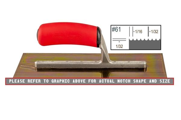 Ultrastainless Riveted 1/32 x 1/16 U Trowel | Ultrastainless Riveted Trowels