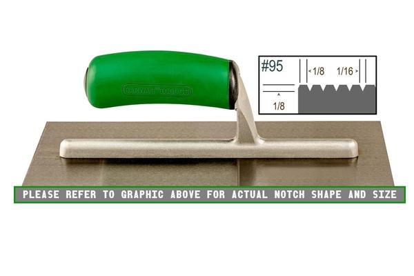 Ultragrip 1/8 x 1/8 V Notched Trowel   Ultragrip Notched