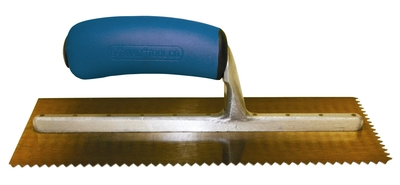 Image Golden Stainless Steel 1/8 x 1/8 V Trowel