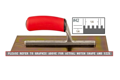 Image Ultrastainless Riveted 1/4 x 1/4 SQ Trowel