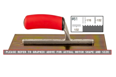 Image Ultrastainless Riveted 1/32 x 1/16 U Trowel