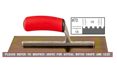 Image Ultrastainless Riveted 1/8 x 1/8 U Trowel