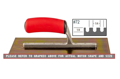 Image Ultrastainless Riveted 1/4 x 1/4 U Trowel