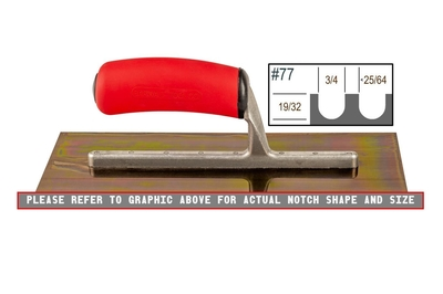Image Ultrastainless Riveted 19/32 x 3/4 U Trowel