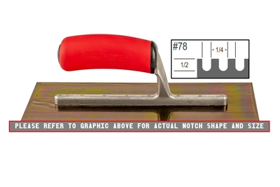 Image Ultrastainless Riveted 3/32 x 3/32 V Trowel