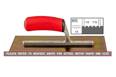 Image Ultrastainless Riveted 1/8 x 1/8 V Trowel