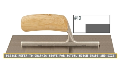 Image Wood Notched Finishing Trowel