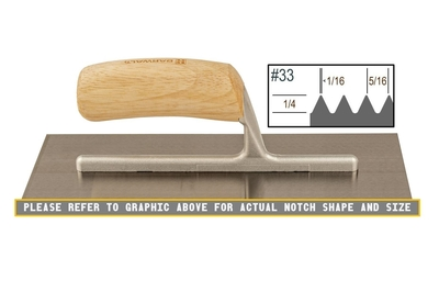 Image Wood Notched 1/4 x 5/16 V Trowel