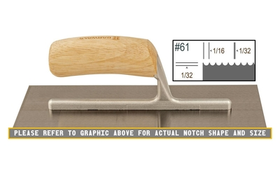 Image Wood Notched 1/32 x 1/16 U Trowel