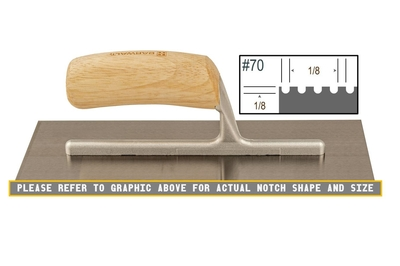 Image Wood Notched 1/8 x 1/8 U  Trowel