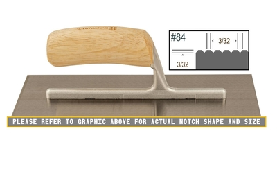 Image Wood Notched 3/32 x 3/32 V Trowel